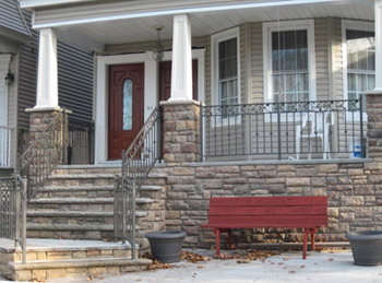 Cultured Stone Porch with Columns