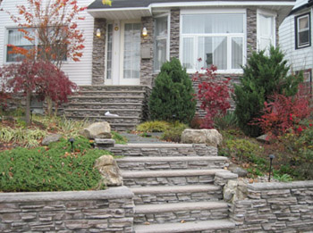 Cultured Stone Stairs and Retaining Walls