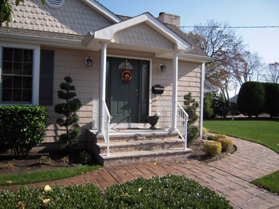 New Jersey masonry repair with porch repair, steps and pavers.